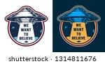 vintage alien invasion colorful ... | Shutterstock .eps vector #1314811676