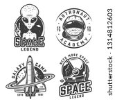 vintage monochrome space badges ... | Shutterstock .eps vector #1314812603