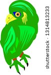 green bird that is perched | Shutterstock .eps vector #1314813233