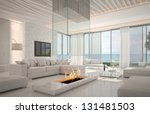 a 3d rendering of white living... | Shutterstock . vector #131481503