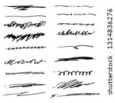 collection of hand drawn... | Shutterstock .eps vector #1314836276
