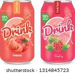 tomato juice and raspberry... | Shutterstock .eps vector #1314845723