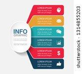 vector infographic template for ...   Shutterstock .eps vector #1314855203