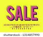 modern old pop art text effect... | Shutterstock .eps vector #1314857990