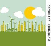 green ecology city illustration ... | Shutterstock .eps vector #131486780