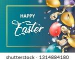 happy easter holiday design... | Shutterstock .eps vector #1314884180