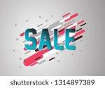 sale  vector confetti  banner... | Shutterstock .eps vector #1314897389