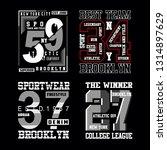 set of vintage typography t... | Shutterstock .eps vector #1314897629