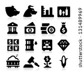 trading icons | Shutterstock .eps vector #131489969