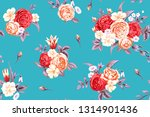 seamless pattern with vintage...   Shutterstock .eps vector #1314901436