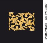 gold ornament baroque style.... | Shutterstock .eps vector #1314913889