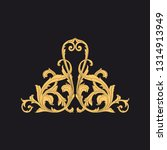 gold ornament baroque style.... | Shutterstock .eps vector #1314913949