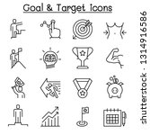 goal  target  self improvement  ... | Shutterstock .eps vector #1314916586