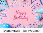 flat lay composition with party ... | Shutterstock . vector #1314927380