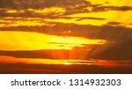 golden hour orange sky and... | Shutterstock . vector #1314932303