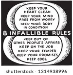 8 infallible rules | Shutterstock .eps vector #1314938996