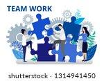 team work concept. vector... | Shutterstock .eps vector #1314941450