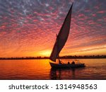 A Boat In The Nile Of Aswan  ...