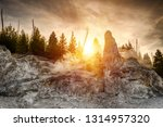 siliceous spire at sunset time... | Shutterstock . vector #1314957320