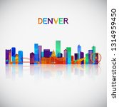 denver skyline silhouette in... | Shutterstock .eps vector #1314959450