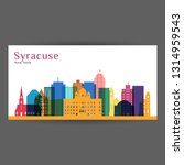 syracuse city architecture... | Shutterstock .eps vector #1314959543