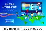 web design app development...   Shutterstock .eps vector #1314987890