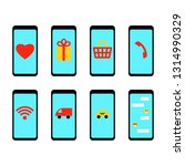 flat vector set of smartphone...