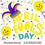 first april fool day ... | Shutterstock .eps vector #1315020140