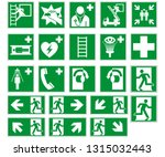 escape route sign collection... | Shutterstock .eps vector #1315032443