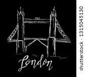 london bridge  doodle sketch | Shutterstock .eps vector #1315045130