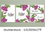 vector floral color spring... | Shutterstock .eps vector #1315056179