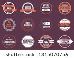 vintage retro vector logo for... | Shutterstock .eps vector #1315070756