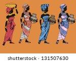 beautiful black woman.african...   Shutterstock .eps vector #131507630