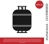 black propane gas tank icon... | Shutterstock .eps vector #1315080800