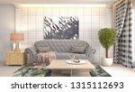 interior of the living room. 3d ... | Shutterstock . vector #1315112693