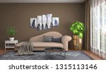 interior of the living room. 3d ... | Shutterstock . vector #1315113146