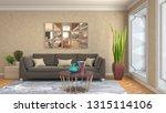 interior of the living room. 3d ... | Shutterstock . vector #1315114106