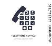 telephone keypad icon on white...