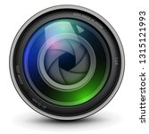 camera photo lens with shutter... | Shutterstock .eps vector #1315121993