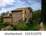 Typical Tuscan Old Farmhouse....