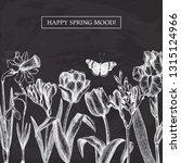 spring flowers vector design.... | Shutterstock .eps vector #1315124966