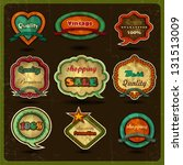 vintage label and retro design... | Shutterstock .eps vector #131513009