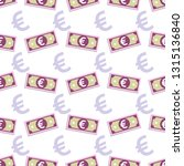 euro banknotes currencies... | Shutterstock .eps vector #1315136840