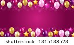 glossy happy birthday balloons... | Shutterstock .eps vector #1315138523