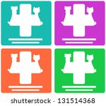 colorful veterinary symbol with ...