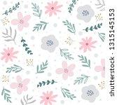 spring floral pattern or... | Shutterstock .eps vector #1315145153