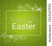 vector happy easter black... | Shutterstock .eps vector #1315167953