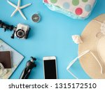 top view travel concept with... | Shutterstock . vector #1315172510
