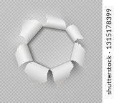 paper rip hole. realistic torn... | Shutterstock .eps vector #1315178399