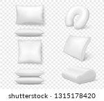 realistic white pillows. vector ... | Shutterstock .eps vector #1315178420
